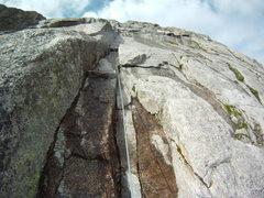 Rock Climbing Photo: Water on the rock taken July 2, 2012.