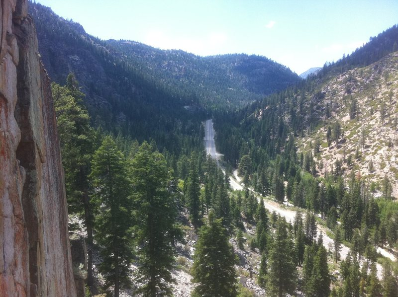 Rock Climbing Photo: View from Woodcutters wall