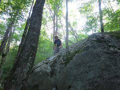 Rock Climbing Photo: Photo of flow with Sam chalking up the topout