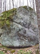 Rock Climbing Photo: Rounded boulder with sloper topout in the streamsi...