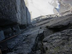 Rock Climbing Photo: Looking down the dihedral