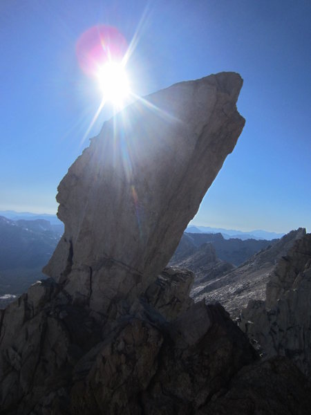 Rock Climbing Photo: The Doodad. Summit Block.