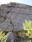 Rock Climbing Photo: Looking up at Hard Rock Minor on the three aces wa...
