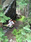 Rock Climbing Photo: GTA, fun problem...there are a few more to be put ...