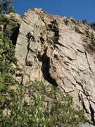 Rock Climbing Photo: Jon Scoville about 2/3 of the way up.