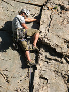 Rock Climbing Photo: Jon Scoville finding the feet.