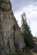 Rock Climbing Photo: Mike and Heidi on Warrior's Wail, 6/30/12.