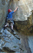 Rock Climbing Photo: Mr. Sandman: Fiddling in an offset brassie.  July ...