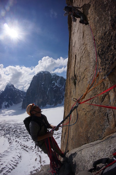 A shot of the crux pitch, photo by Georg.