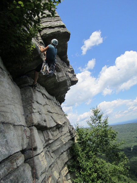 Rock Climbing Photo: pulling the roof move