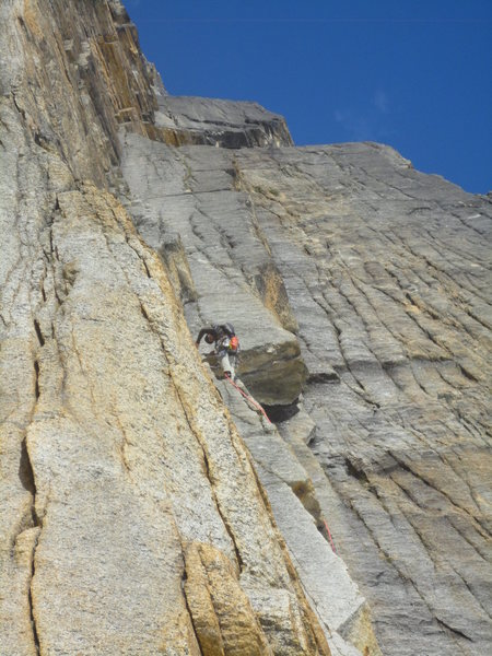 Rock Climbing Photo: This is the way we did the 1st pitch on the first ...