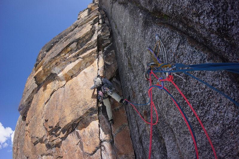 Rock Climbing Photo: Andrew climbing pitch four.
