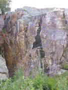 Rock Climbing Photo: looking up at the short sport wall Wing shot goes ...