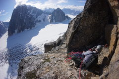 Rock Climbing Photo: Belaying the top of pitch 11.  Only mellow 5.easy ...