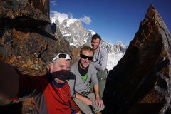 Rock Climbing Photo: Georg, Andrew and I: Team Lucky Mushroom.