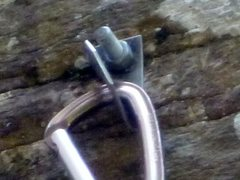 Rock Climbing Photo: Bolt hanger closeup