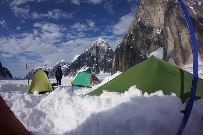 Base camp for Team Lucky Mushroom.