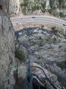 Rock Climbing Photo: Dihedral up top.