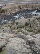 Rock Climbing Photo: Halfway up P1.