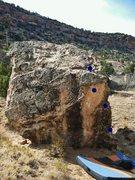 Rock Climbing Photo: Escargot beta.
