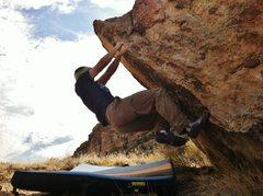 Rock Climbing Photo: Zach working Escargot.