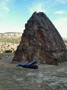 Rock Climbing Photo: Triangle Boulder.