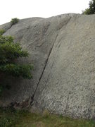Rock Climbing Photo: Climb the crack then move to the left then up to t...