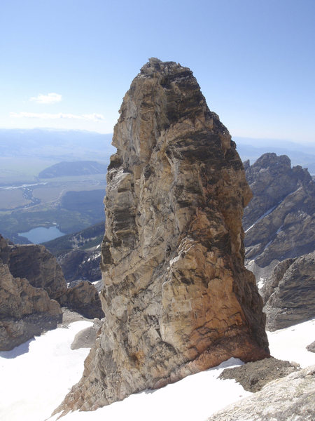 This is the North side of the Teepe Pillar.   Photo taken from the East face of the Grand looking down on the Teepe Col