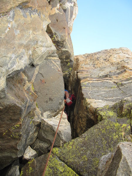 Rock Climbing Photo: The 4 pitch chimney.