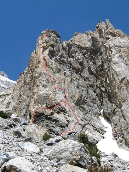 Rock Climbing Photo: The route with two start options.