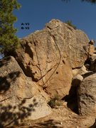 Rock Climbing Photo: Thunder Down Under boulder in the afternoon.
