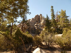 Rock Climbing Photo: View of the Voodoo Pin Crag from the Thunder Down ...
