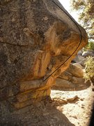 Rock Climbing Photo: Most visible face from the trail of the Chip off t...