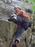 Rock Climbing Photo: RP on Aloha.  Very fun starting moves.