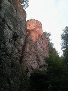 Rock Climbing Photo: The part of the ruins visible from the climbing. T...