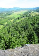 Rock Climbing Photo: View toward the East from the top of Big Rock. Anc...