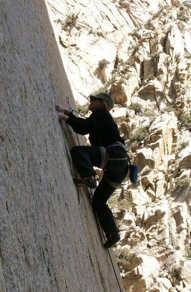 Rock Climbing Photo: Working on my project!