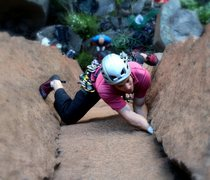 Rock Climbing Photo: Saar crushing it - pic by Jessie LaFleur
