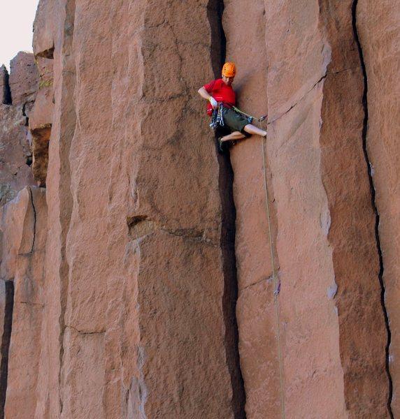 Rock Climbing Photo: Adrian sending U3 - pic by Jessie LaFleur