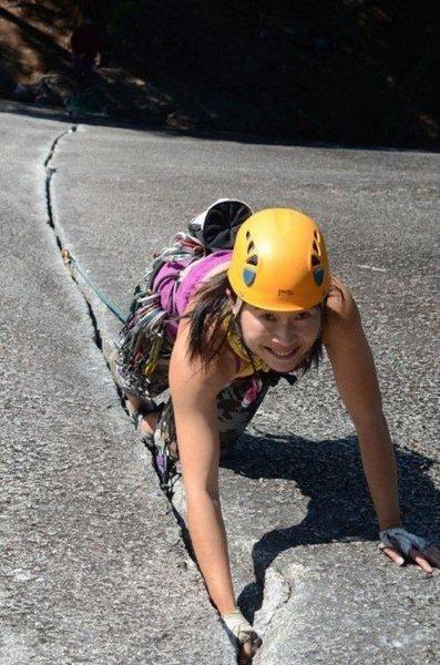 Rock Climbing Photo: Climbing Klahanie Crack in BC