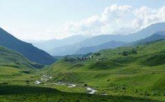 South Ossetia, leaving the Erman village for Kelitsad lake and the voulcano plato.