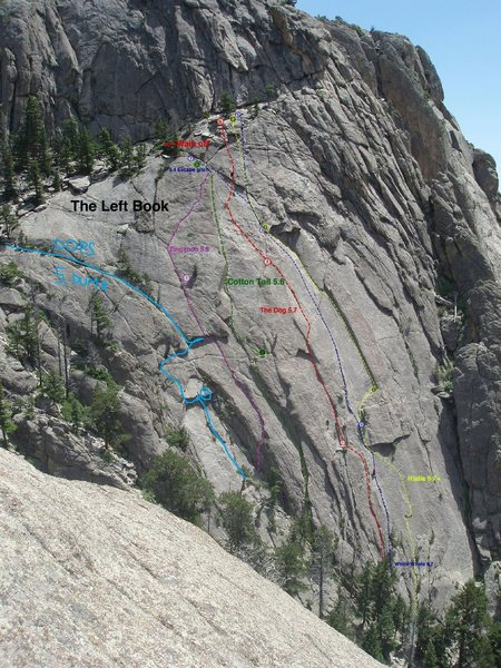 "Rock Climbing Photo: FA of ""Oops"" (5.DUMB)."