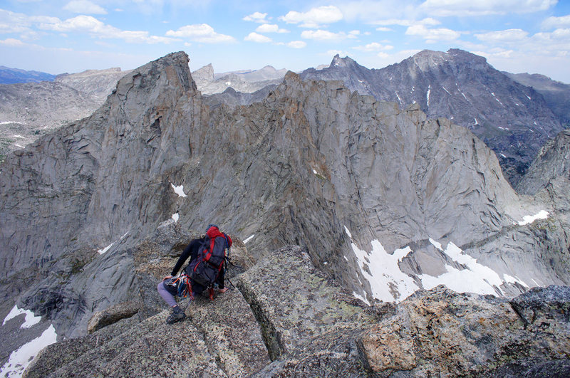Rock Climbing Photo: Descending from the summit of Overhanging Tower. G...