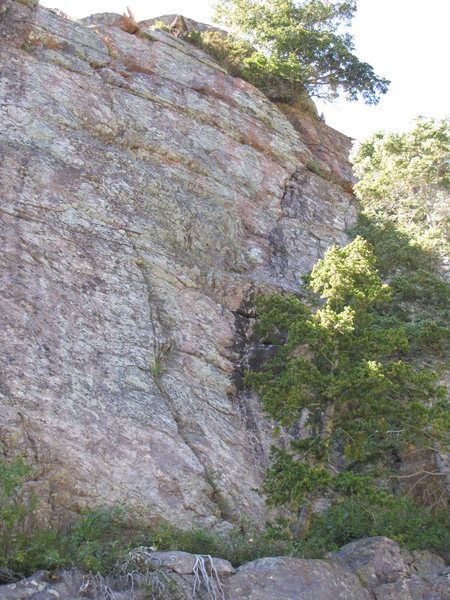 Rock Climbing Photo: Climb the crack in the center of this picture cont...