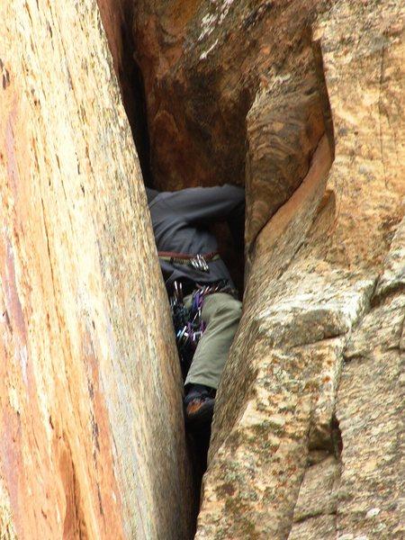 Rock Climbing Photo: crux...