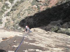 Rock Climbing Photo: John Kear and Derek Doucet on the 3rd pitch of Amb...