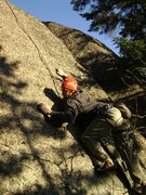"Rock Climbing Photo: Working it out before the ""send."""