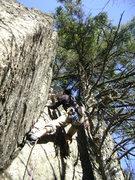 Rock Climbing Photo: Nick Placing gear, good work!