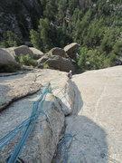 Rock Climbing Photo: Pitch 2 - crux corner.
