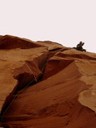 Rock Climbing Photo: Moving past the undercling crux on P1. 4/2012  Pho...